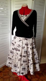 1950s style Newspaper Skirt with extras!