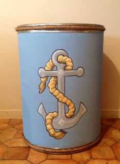 Upcycled Barrel into a Retro Toy Bin