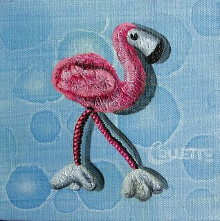 Mini Pink Flamingo