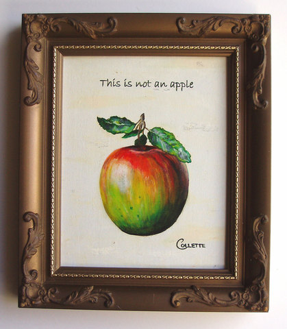 Magritte's 'This is not an Apple'