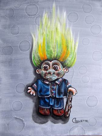 The Troll doll with the Moko tattoo